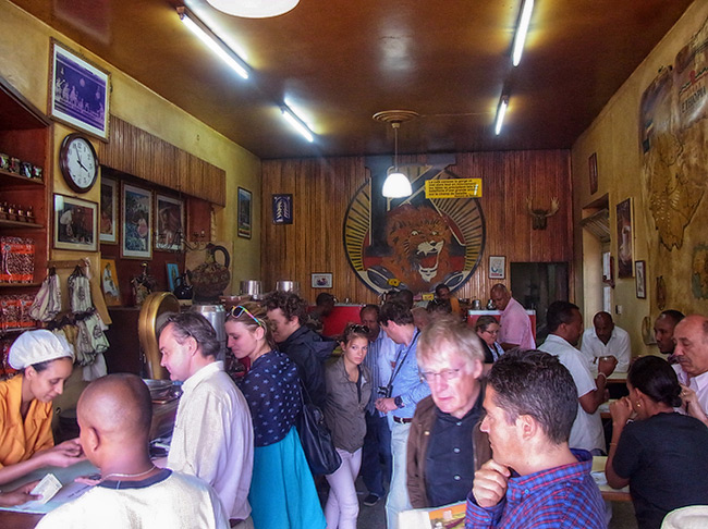 Tomoca coffee house in Addis Ababa