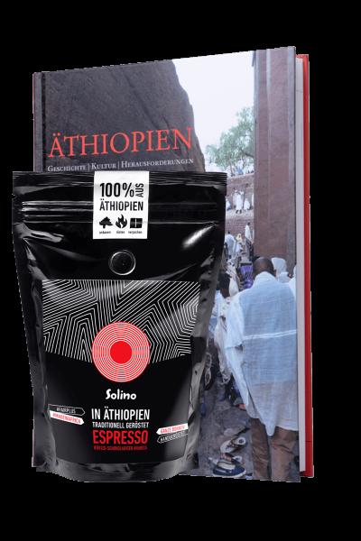 Bundle : Solino Espresso und Äthiopien-Buch (Packshot)