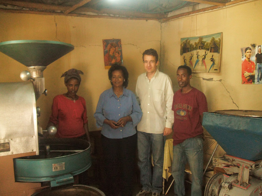 2008: our first roaster in Addis Ababa, Ethio-Harar plc.