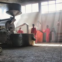 Coffee roasting in Addis Ababa