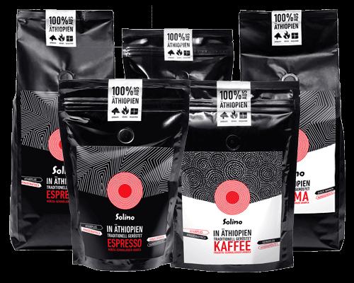 Kaffee-Shop: Alle Sorten Packshots (Bild)