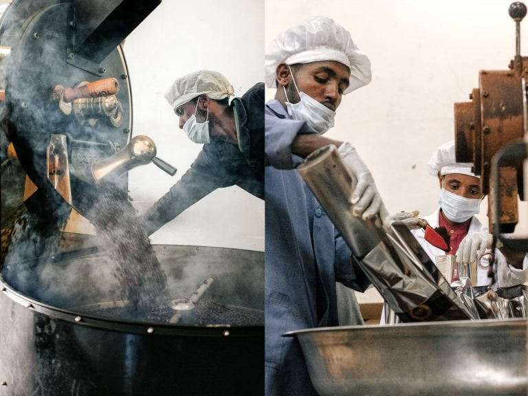 The coffee being roasted (picture gallery)